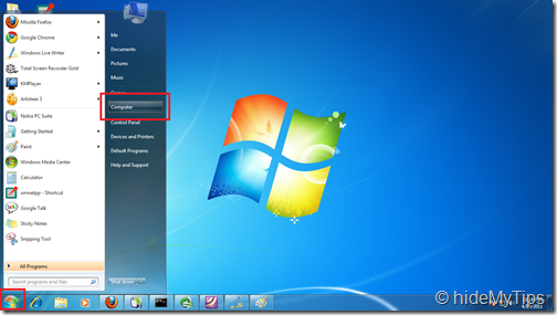 Checking Hard Drive Free Space in Windows 7
