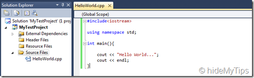 "6_Create ""Hello World"" C   Program in Windows Using Microsoft Visual Studio"