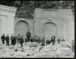 Valle Caidos ante visita Franco