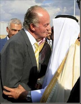 Juan Carlos besando a Abdalá