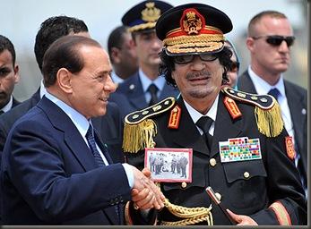 Gadafi Berlusconi