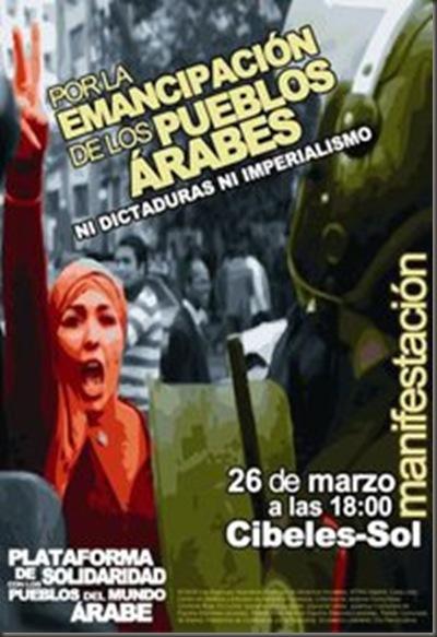Manifestación pueblos árabes