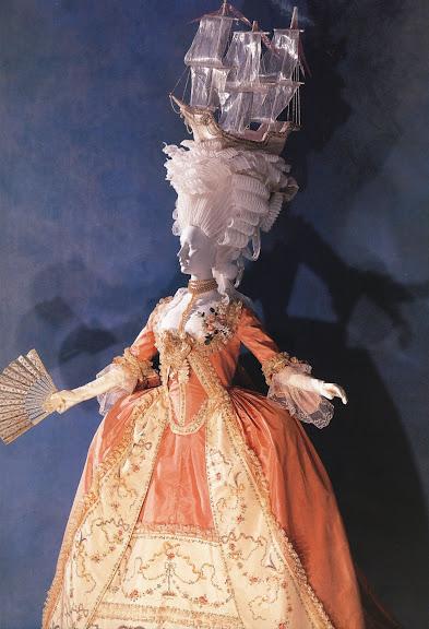 Платье robe a la francaise Около 1780, Франция. Розовая шелков