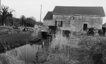 Moulin de Launay (bas) sur le Gesvres avant transformation