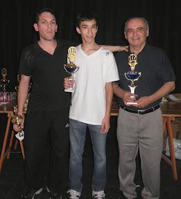 Luciano Andrada, Leandro Álvarez, Ernesto Santa Coloma