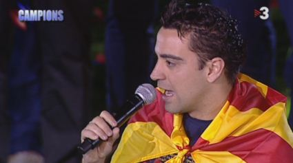 Nou Camp - Celebration - Xavi