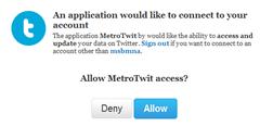 Pemasangan MetroTwit