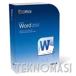 Cipta PDF dengan Microsoft Word 2010