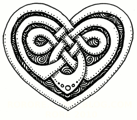 Knotwork celtic heart number three: (my least favorite here)