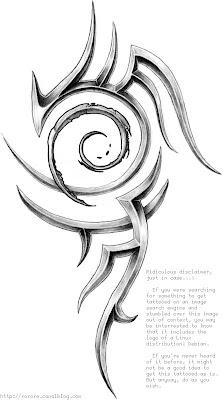 debian tribal tattoo