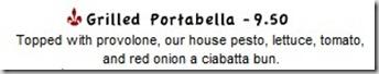 Grilled Portabella