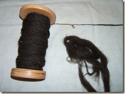 Black Welsh Mountain single and roving
