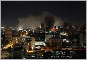 Bangkok night burning