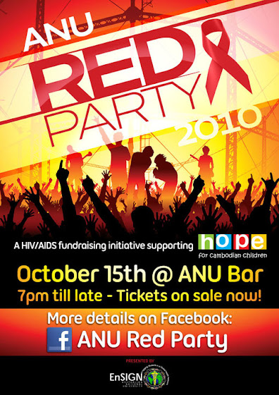 ANU Red Party Poster