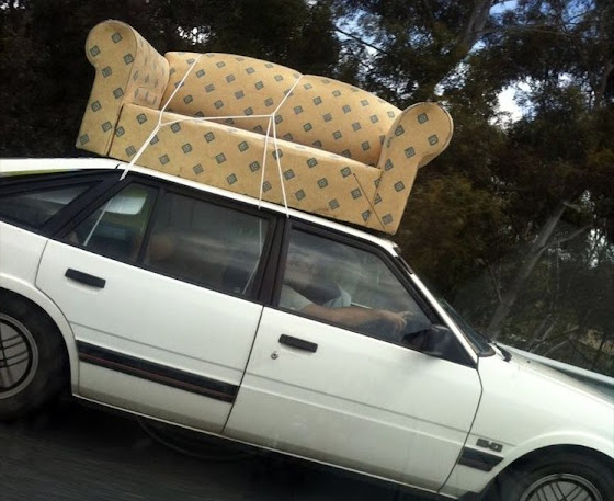 couch on car