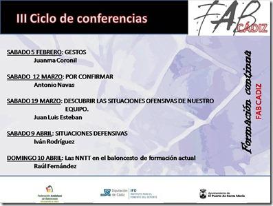III Ciclo de conferencias en Cádiz