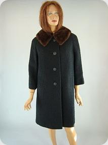 Vintage black coat 60s 3