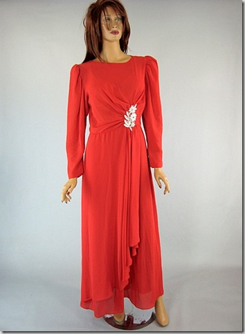 Emma Domb Red dress VTG