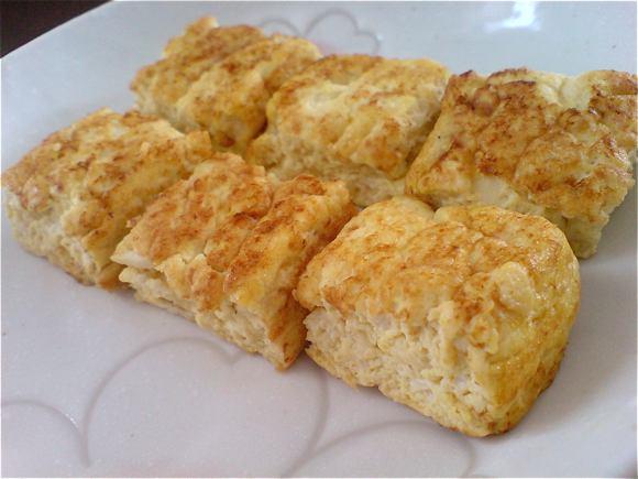 tofu egg omelette
