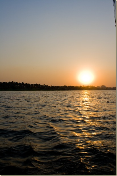Sunset felucca ride on the Nile