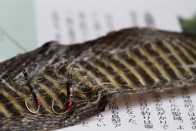 Mamushi kebari snake skin fly tenkara