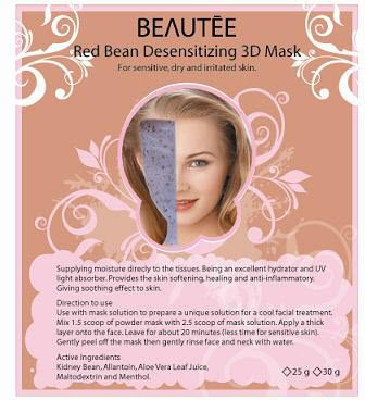 beautee 3d powder mask red bean