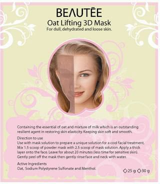 beautee 3d powder mask oat