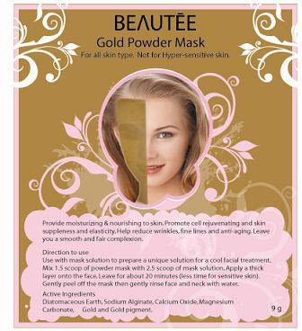 beautee 3d powder mask gold