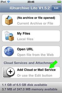 paso%201 ¿Cómo abrir archivos zip en iPhone, iPad o iPod Touch?