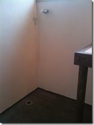 自然素材の家 洗濯機置き場