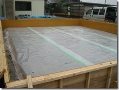 土壁の家 防湿シート