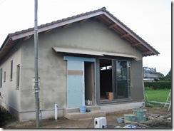 土壁の家 中塗り