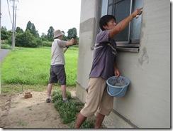 土壁の家 外壁仕上げ