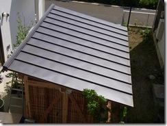 自然素材の家 屋根完成!