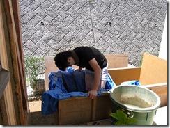 自然素材の家 土練り
