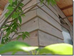 自然素材の家 下見張りコーナー