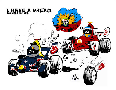 I have a dream Bahrain GP Себастьян Феттель Фернандо Алонсо Фелипе Масса