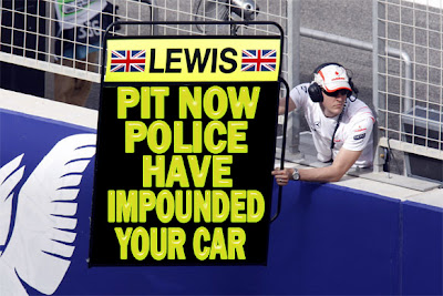Льюис Хэмилтон pit now police have impounded your car