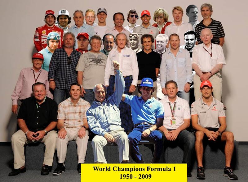 Чемпионы Формулы-1 1950-2009 на одном фото