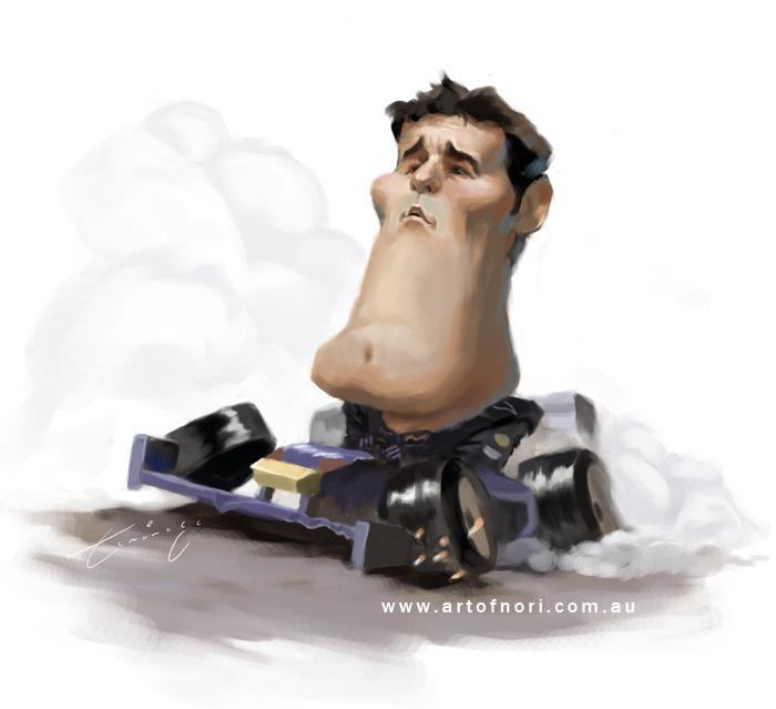 карикатура Марка Уэббера