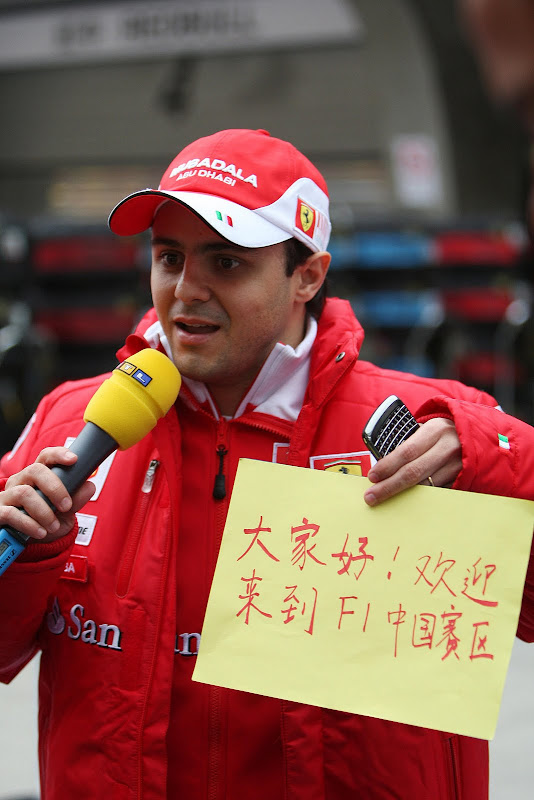 Фелипе Масса на Гран-при Китая в Шанхае