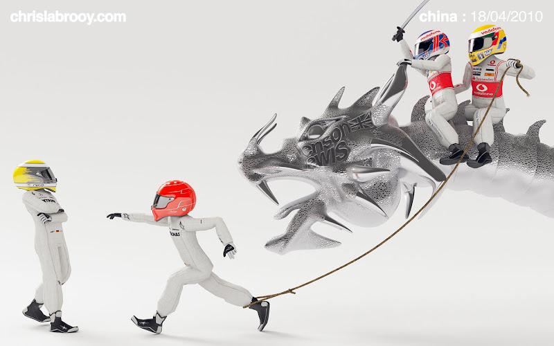 Гран-при Китая 2010 дубль McLaren в исполнении Дженсона Баттона и Льюиса Хэмилтона
