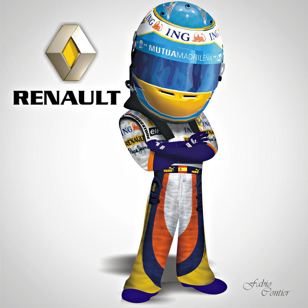 fsone 2008 Фернандо Алонсо Renault