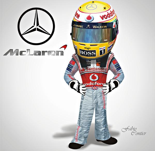 fsone 2008 Льюис Хэмилтон McLaren