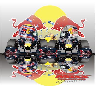 Себастьян Феттель и Марк Уэббер Red Bull