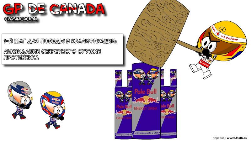 1й шаг для победы в квалификации на Гран-при Канады 2010