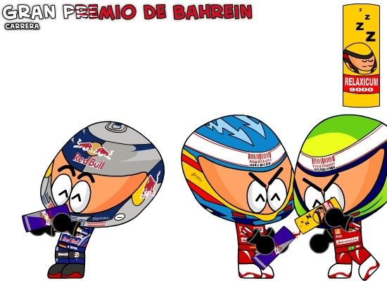 Фернандо Алонсо и Фелипе Масса против Себастьяна Феттеля на Гран-при Бахрейна 2010