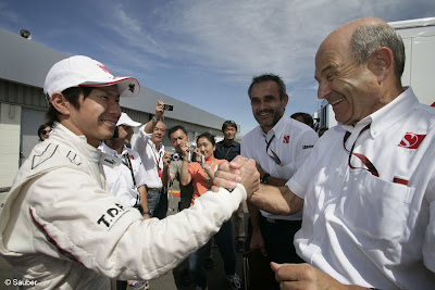 Камуи Кобаяши и Петер Заубер на Гран-при Великобритании 2010