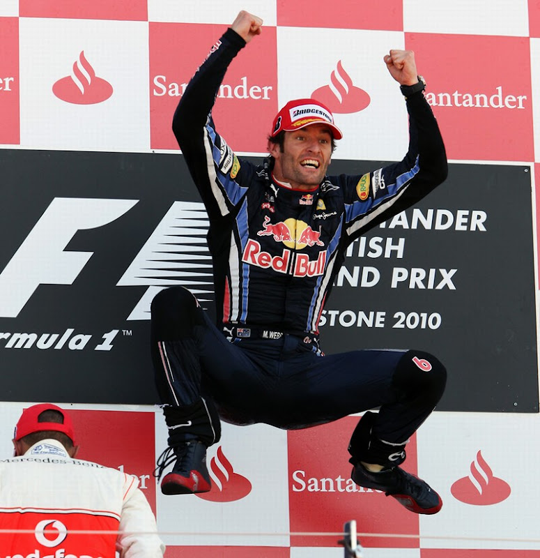 Марк Уэббер победитель Гран-при Великобритании 2010