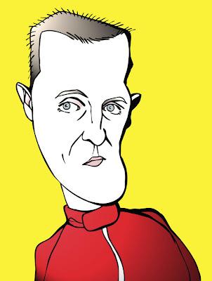 карикатура Михаэль Шумахер